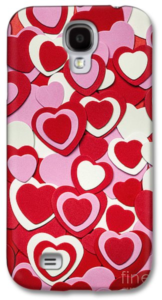 Cutouts Galaxy S4 Cases - Valentines day hearts Galaxy S4 Case by Elena Elisseeva
