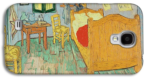 Arles Galaxy S4 Cases - Van Goghs Bedroom at Arles Galaxy S4 Case by Vincent Van Gogh