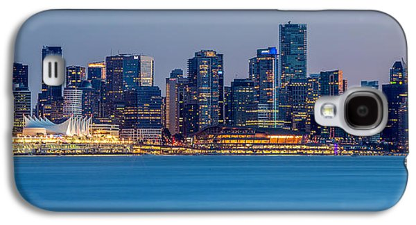 Burrard Inlet Galaxy S4 Cases - Vancouver city panorama Galaxy S4 Case by Pierre Leclerc Photography