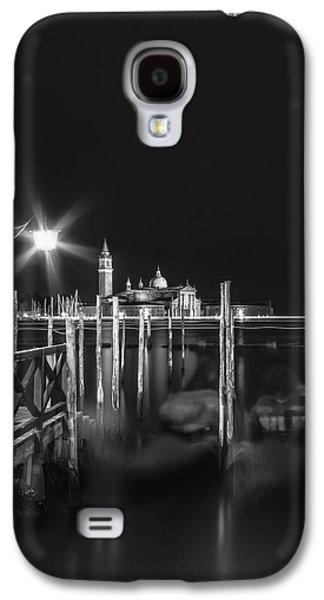 Ancient Galaxy S4 Cases - VENICE San Giorgio Maggiore at Night black and white Galaxy S4 Case by Melanie Viola