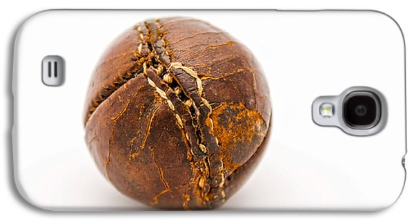 Softball Photographs Galaxy S4 Cases - Very old leather baseball Galaxy S4 Case by Patricia Hofmeester