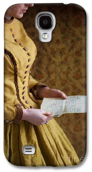 Full Skirt Galaxy S4 Cases - Victorian Woman Reading A Love Letter Galaxy S4 Case by Lee Avison