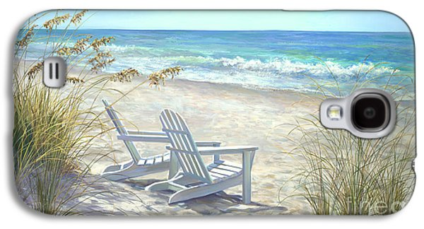 Beach Landscape Galaxy S4 Cases - View For Two Galaxy S4 Case by Laurie Hein