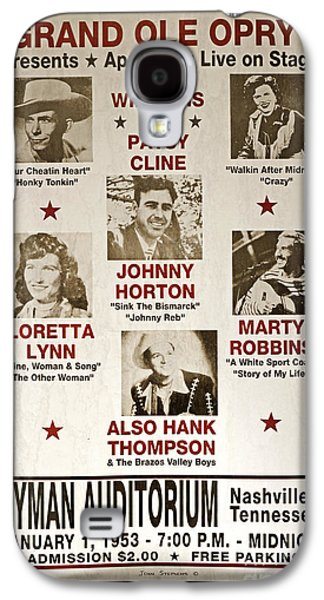 Recently Sold -  - Sports Photographs Galaxy S4 Cases - Vintage 1953 Grand Ole Opry Poster Galaxy S4 Case by John Stephens