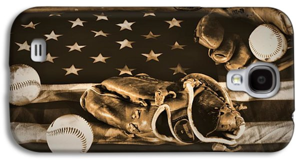 Baseball Photographs Galaxy S4 Cases - Vintage Baseball Galaxy S4 Case by Dan Sproul