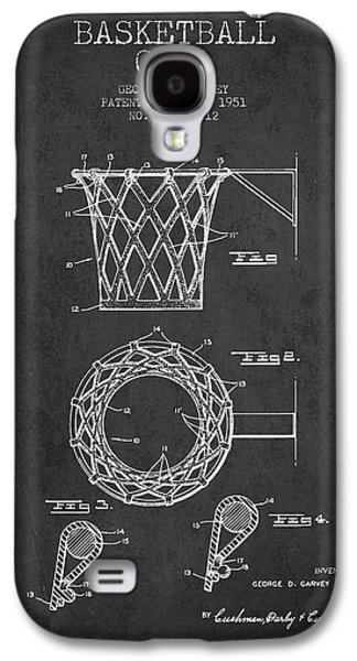 Hoop Galaxy S4 Cases - Vintage Basketball Goal patent from 1951 Galaxy S4 Case by Aged Pixel