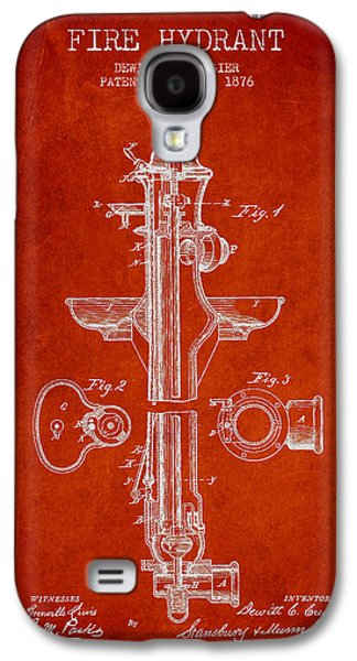 Fire Galaxy S4 Cases - Vintage Fire Hydrant Patent from 1876 Galaxy S4 Case by Aged Pixel