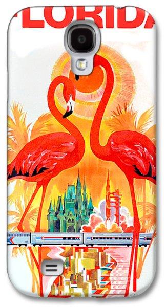Vintage Florida Travel Poster Galaxy S4 Case by Jon Neidert