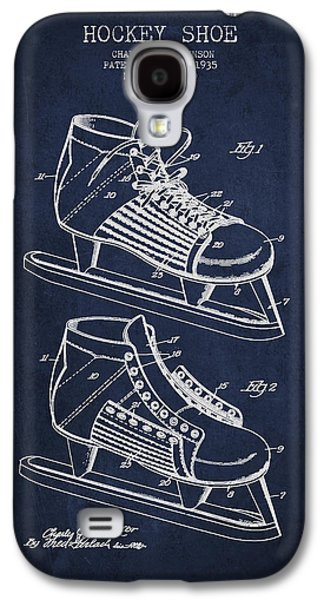 Antique Skates Galaxy S4 Cases - Vintage Hockey Shoe Patent Drawing From 1935 Galaxy S4 Case by Aged Pixel