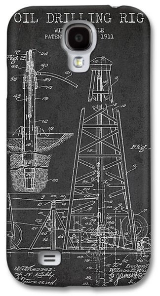 Industry Galaxy S4 Cases - Vintage Oil drilling rig Patent from 1911 Galaxy S4 Case by Aged Pixel