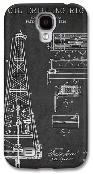 Wells Galaxy S4 Cases - Vintage Oil drilling rig Patent from 1916 Galaxy S4 Case by Aged Pixel