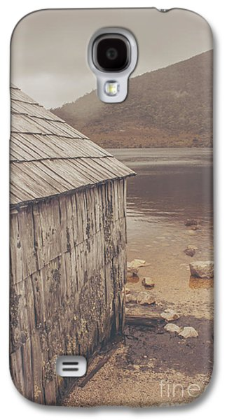 Shed Galaxy S4 Cases - Vintage photo of an Australian boat shed Galaxy S4 Case by Ryan Jorgensen