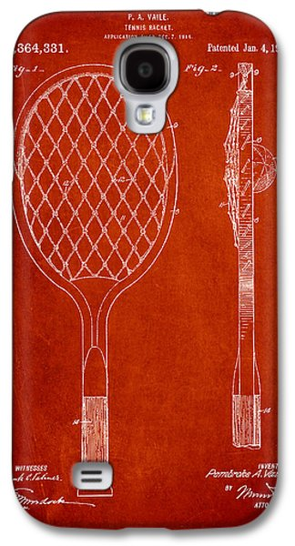 Tennis Galaxy S4 Cases - Vintage Tennnis Racketl Patent Drawing from 1921 Galaxy S4 Case by Aged Pixel