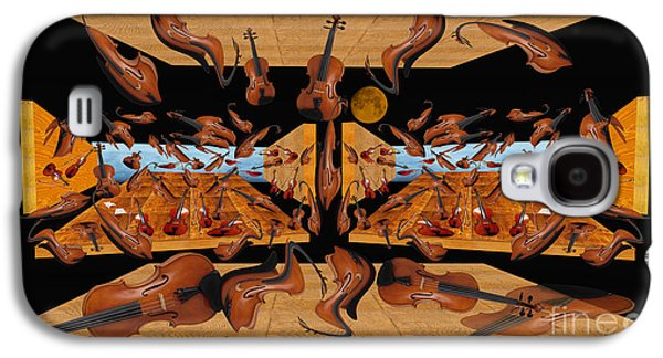Photo Manipulation Paintings Galaxy S4 Cases - Violin Reunion Galaxy S4 Case by Dariush Alipanah- Jahroudi
