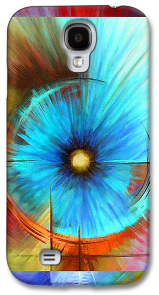Galactic Paintings Galaxy S4 Cases - Vortex Galaxy S4 Case by James Christopher Hill