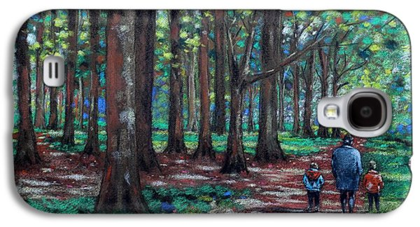 Impressionism Pastels Galaxy S4 Cases - Walk In The Park Galaxy S4 Case by John  Nolan
