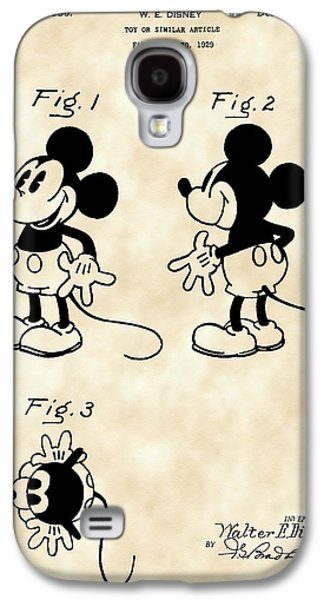 Mouse Digital Art Galaxy S4 Cases - Walt Disney Mickey Mouse Patent 1929 - Vintage Galaxy S4 Case by Stephen Younts
