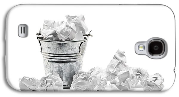 Concept Sculptures Galaxy S4 Cases - Waste basket with crumpled papers Galaxy S4 Case by Shawn Hempel
