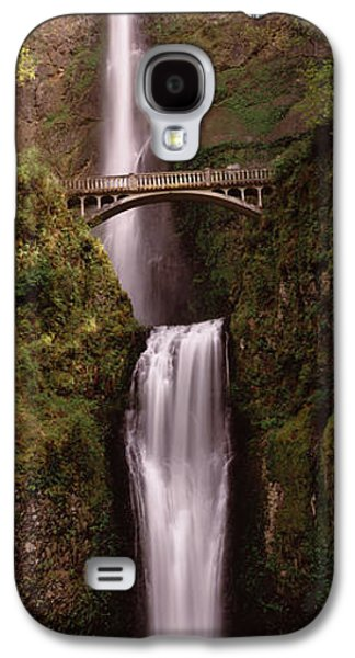 Connection Galaxy S4 Cases - Waterfall In A Forest, Multnomah Falls Galaxy S4 Case by Panoramic Images