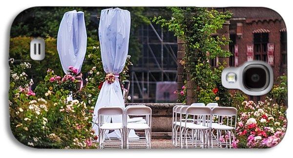 Garden Scene Galaxy S4 Cases - Wedding Arrangement in De Haar Castle. Utrecht Galaxy S4 Case by Jenny Rainbow