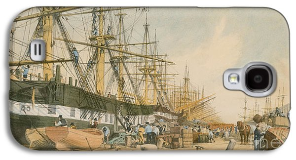 Past Paintings Galaxy S4 Cases - West India Docks from the South East Galaxy S4 Case by William Parrot