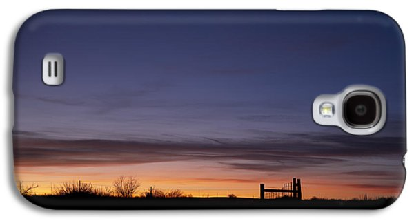 Dry Lake Galaxy S4 Cases - West Texas Sunset Galaxy S4 Case by Melany Sarafis
