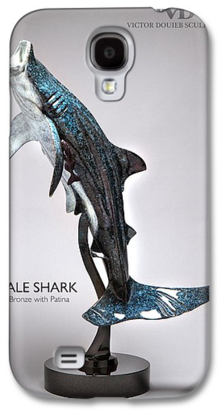 Sharks Sculptures Galaxy S4 Cases - Whale Shark Galaxy S4 Case by Victor Douieb