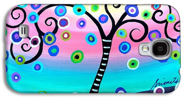 Carter House Galaxy S4 Cases - Whimsical Tree Of Life Galaxy S4 Case by Pristine Cartera Turkus