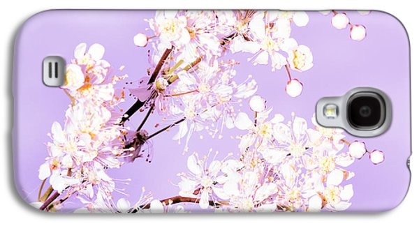 Copy Mixed Media Galaxy S4 Cases - White flowers  Galaxy S4 Case by Toppart Sweden