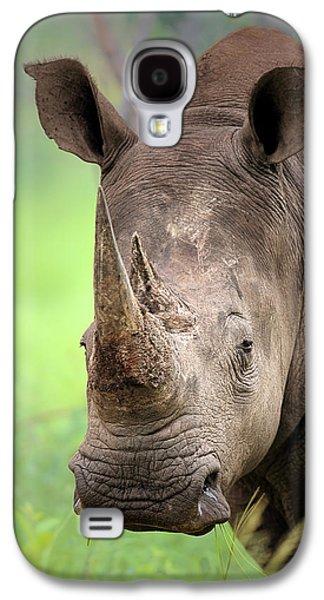 Fauna Photographs Galaxy S4 Cases - White Rhinoceros Galaxy S4 Case by Johan Swanepoel
