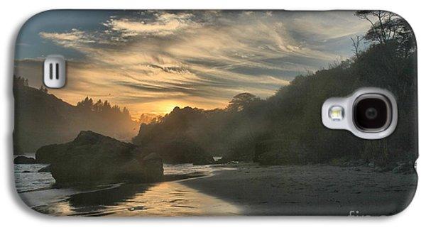 Foggy Beach Galaxy S4 Cases - Winding Down Galaxy S4 Case by Adam Jewell