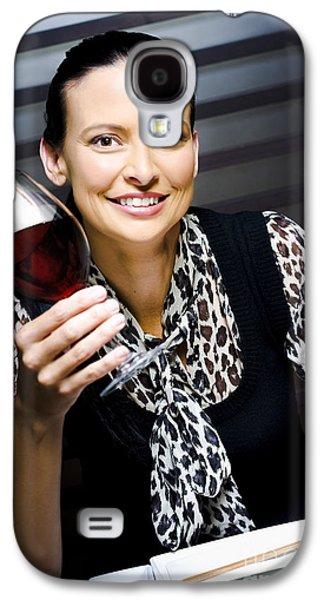 Women Tasting Wine Galaxy S4 Cases - Wine And Food Critique  Galaxy S4 Case by Ryan Jorgensen
