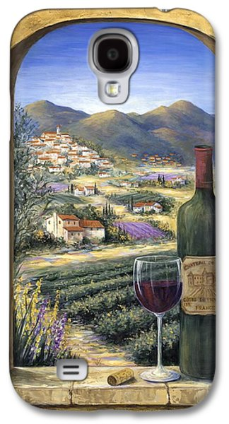 Field Paintings Galaxy S4 Cases - Wine and Lavender Galaxy S4 Case by Marilyn Dunlap