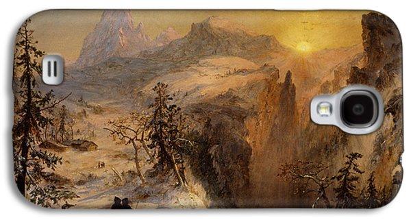 Winter Wonderland Galaxy S4 Cases - Winter in Switzerland Galaxy S4 Case by Jasper Francis Cropsey