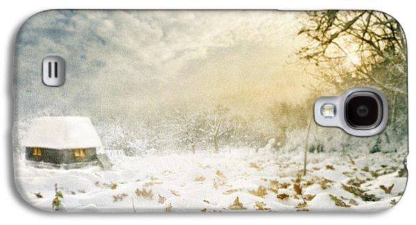 Nature Scene Pyrography Galaxy S4 Cases - Winter Galaxy S4 Case by Jelena Jovanovic
