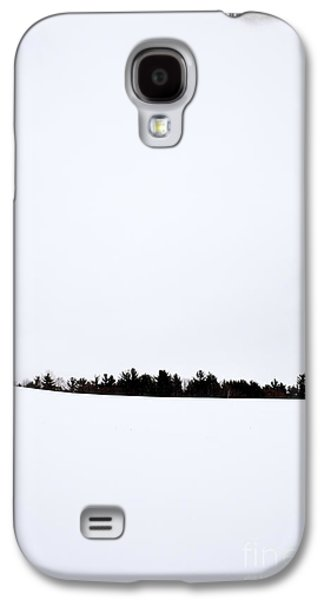 Snow-covered Landscape Galaxy S4 Cases - Winter Minimalism Galaxy S4 Case by Edward Fielding