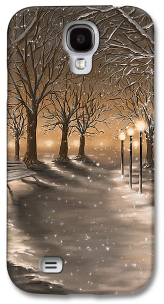 Winter Digital Art Galaxy S4 Cases - Winter Galaxy S4 Case by Veronica Minozzi