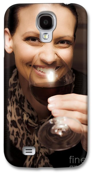 Wine Sipping Galaxy S4 Cases - Woman At Winery Galaxy S4 Case by Ryan Jorgensen