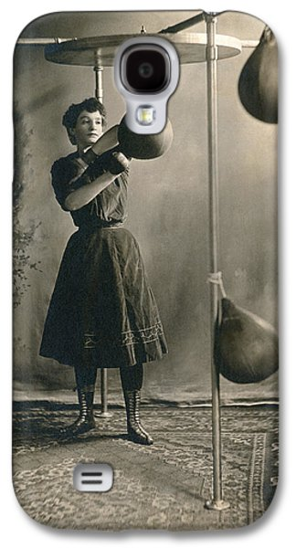 Woman Boxing Workout Galaxy S4 Case by Underwood Archives