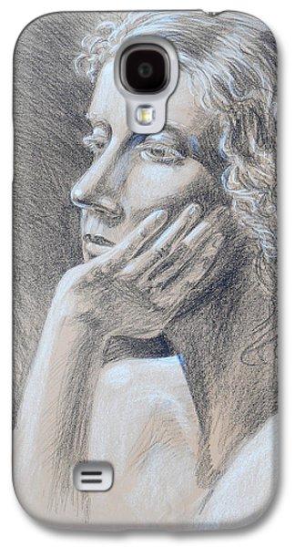 Head Drawings Galaxy S4 Cases - Woman Head Study Galaxy S4 Case by Irina Sztukowski