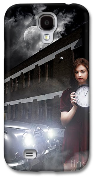 Woman Holding Clock Galaxy S4 Case by Jorgo Photography - Wall Art Gallery