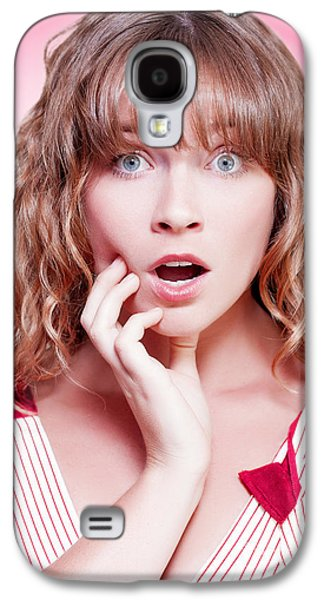 Dismay Galaxy S4 Cases - Woman looking shocked and appalled Galaxy S4 Case by Ryan Jorgensen