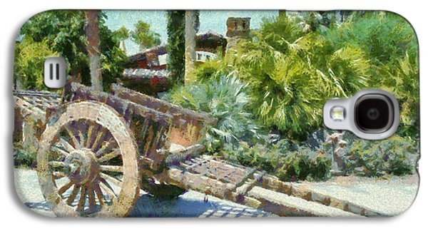 Wooden Wagons Galaxy S4 Cases - Wood Hand Cart Galaxy S4 Case by Barbara Snyder