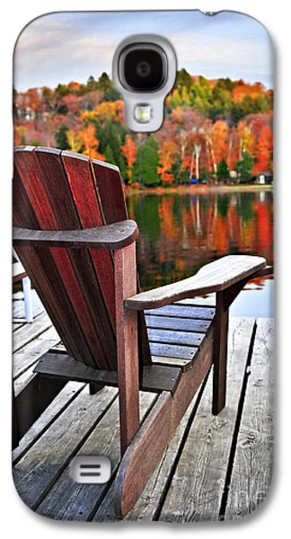 Wooden Dock On Autumn Lake Galaxy S4 Case by Elena Elisseeva