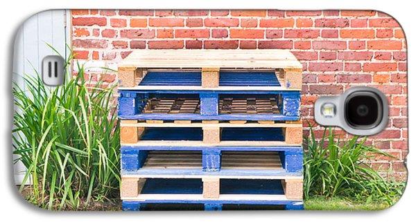 Wooden Platform Galaxy S4 Cases - Wooden pallets Galaxy S4 Case by Tom Gowanlock