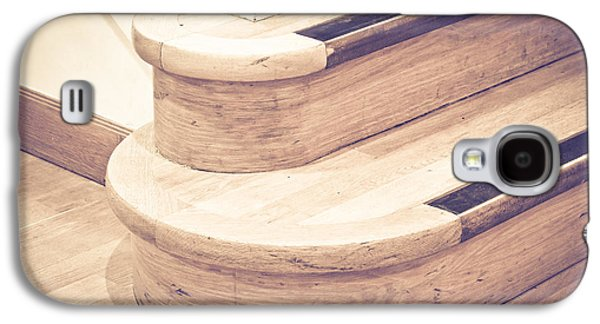 Flooring Galaxy S4 Cases - Wooden stairs Galaxy S4 Case by Tom Gowanlock