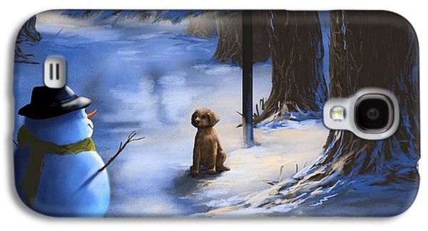 Winter Light Paintings Galaxy S4 Cases - Would you like to play? Galaxy S4 Case by Veronica Minozzi