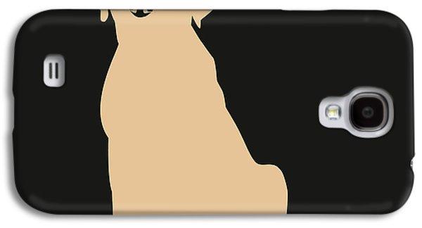 Puppies Digital Art Galaxy S4 Cases - Yellow Labrador Galaxy S4 Case by Elizabeth Harshman