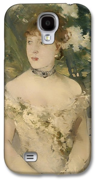 Ball Gown Galaxy S4 Cases - Young Girl in a Ball Gown Galaxy S4 Case by Berthe Morisot