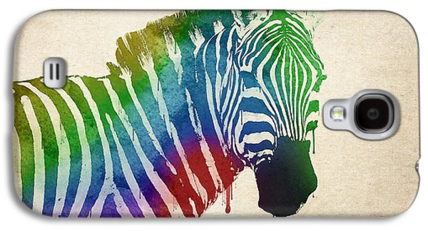 Vibrant Colors Digital Galaxy S4 Cases - Zebra Galaxy S4 Case by Aged Pixel